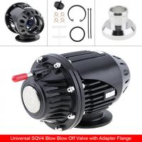 Durable Black SQV4 SQV 4 IV Bov Turbo Pull Type Blow Off Valve Bov Exhaust Valve BOV with Adapter Flange