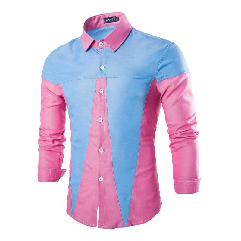Pink And Blue Mens Shirt | Is Shirt