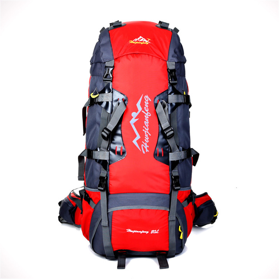 80L Large Capacity Outdoor backpack Camping Travel Bag Professional Hiking Backpack Unisex Rucksacks sports bag Climbing packag mountec large outdoor backpack travel multi purpose climbing backpacks hiking big capacity rucksacks sports bag 80l 36 20 80cm