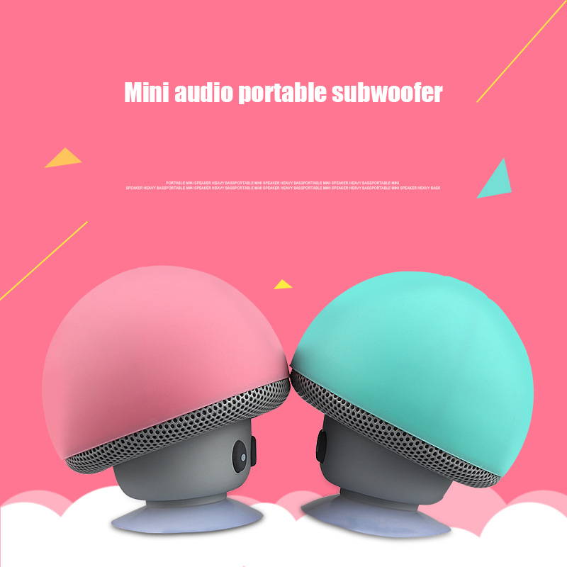 Image 2 - Cartoon Mushroom Wireless Bluetooth Speaker Waterproof Sucker Outdoor Portable Phone Bracket For Huawei Xiaomi iPhone Samsung-in Portable Speakers from Consumer Electronics