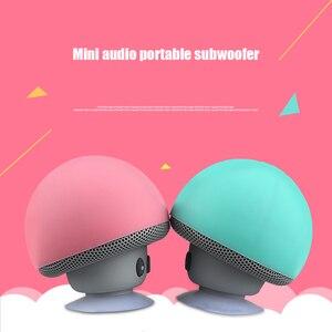 Image 2 - 만화 버섯 무선 블루투스 스피커 방수 빨판 야외 휴대용 전화 브래킷 화웨이 xiaomi 아이폰 삼성