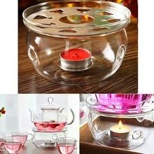 Нагревание Кофе Вода Ароматизированный Чай Теплее Свеча базовый прозрачный из боросиликатного стекла Жаростойкие теплее изоляция чайник триветы