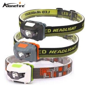 Image 1 - AloneFire HP30 4 Mod hafif Su Geçirmez Far CREE LED Kamp Kafa lambası Projektör Çalışan Kafa kafa lambası ışığı AAAbattey