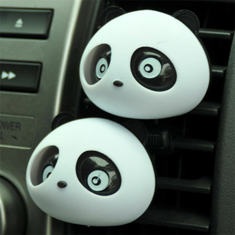 Car Panda Air Fesehener New 2 x Panda Cute Car Perfume Air Freshener Auto Accessory For Car drop shipping jun7