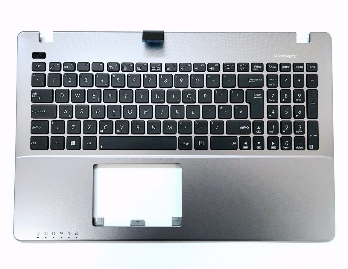 New Genuine UK keyboard for Asus R510L R510LA R510LB R510LC R510LD R510LN Topcase with grey palmrest