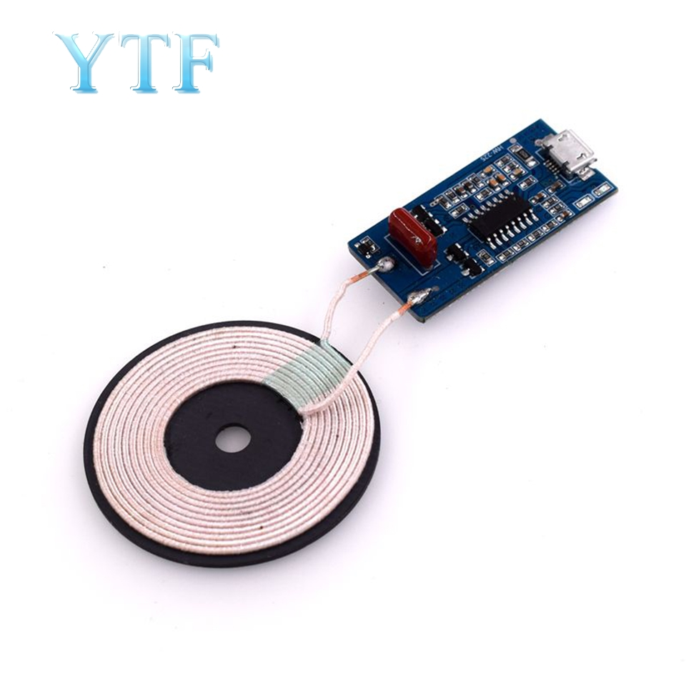5W 5V1A Wireless Charging Transmitter Module With LED Compatible With WPC Standard Wireless Receiver