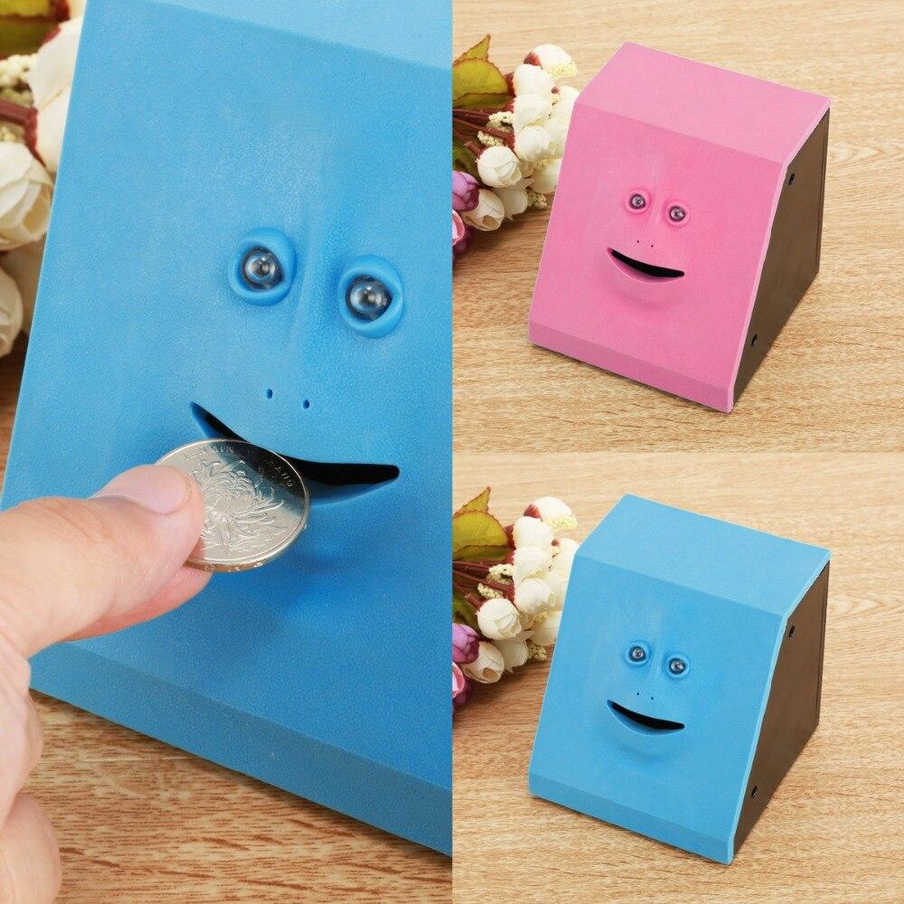 Drop Shipping Face Money Eating Piggy Bank Money Saving Box Cute Face Bank Coin Saving Bank For Children Toys Gift