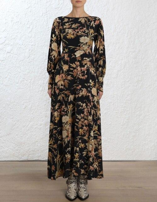 19d5dd1d7fe7a Detail Feedback Questions about Women Silk Black Jonquil Floral ...