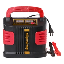 Cargador de batería LCD con ajuste automático, 350W, 14A, 12V 24V, arrancador de batería de coche portátil