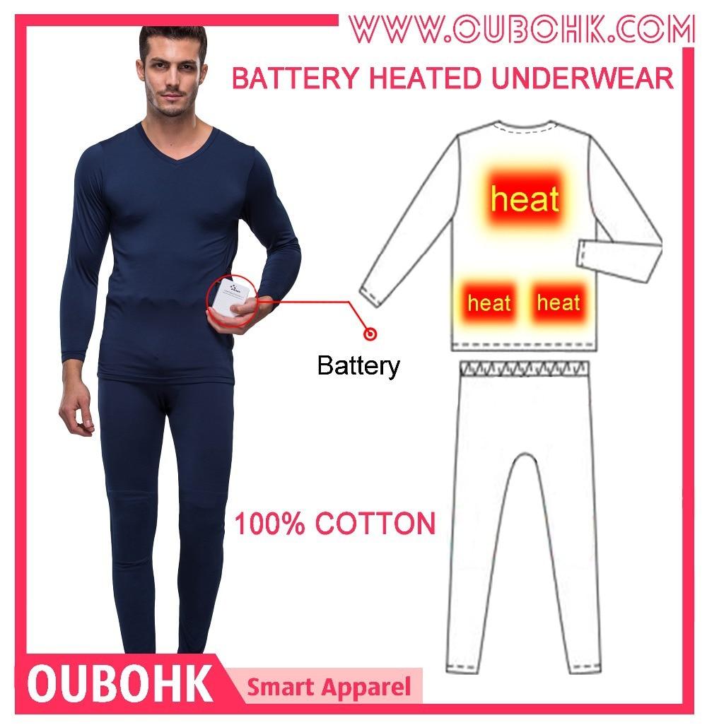 Aliexpress.com : Buy Electric Heated Underwear Men's Cotton ...