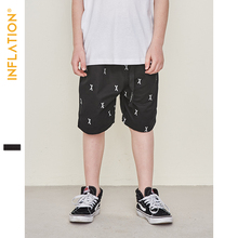 INFLATION 2019 Summer Boys Shorts Clothes kids shorts Embroidery Overalls For Boy Kids Outdoor Hip Hop Beach Sports Shorts 9593S