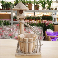 Top di Modo di vendita Caldo arredamento da giardino forniture piccole decorativi vasi di fiori fioriera in legno scatola di legno succulente pentole