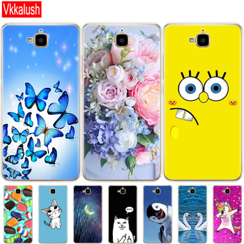 case for Huawei Honor 4C Pro Case Honor 4C Pro Cover Soft Silicon Back Case for Huawei Y6 Pro 2015 Case TIT-L01 TIT-TL00 Phone цена 2017