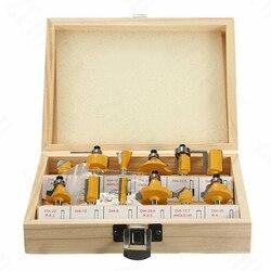 12pcs 1/4 Polegada Haste Router Conjunto de Bits Carboneto de Tungstênio Cortadores de Madeira Kit de Ferramentas Rotativas