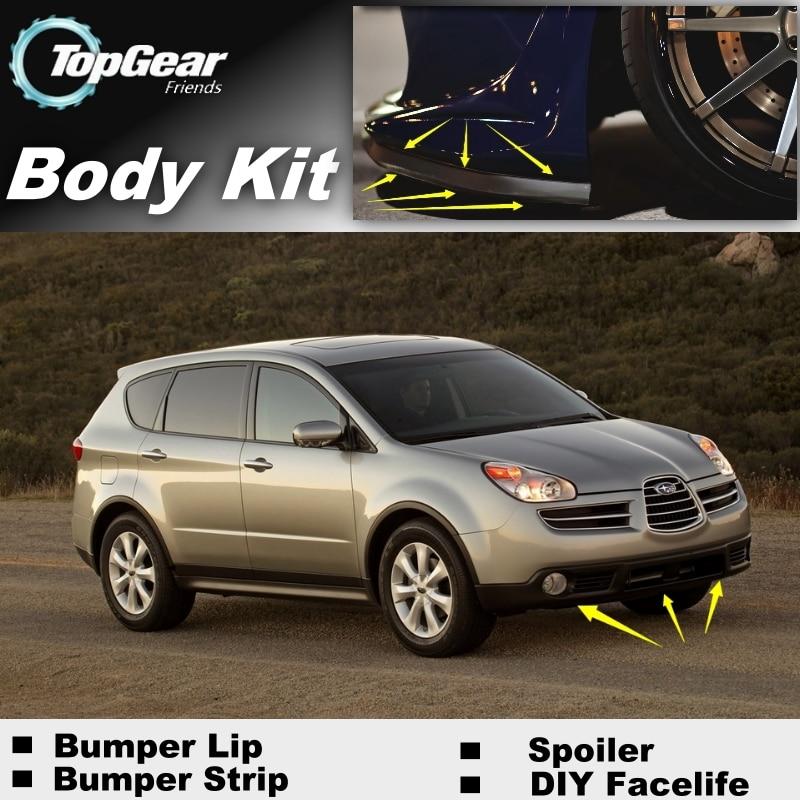 tuning subaru tribeca b9 - Bumper Lip Deflector Lips For Subaru Tribeca B9 2006 2007 Front Spoiler Skirt For TopGear Fans Car Tuning / Body Kit / Strip