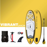 AQUA MARINA Kids Surf Board Vibrant Inflatable Surf Board SUP Stand Up Paddle Board Teenager Sufing Board 266*75*10cm