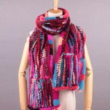 Thicken Colorful Scarf luxury Brand Bufandas Mujer 2016 Women Mink Fur Lady Women Winter Scarf Foulard