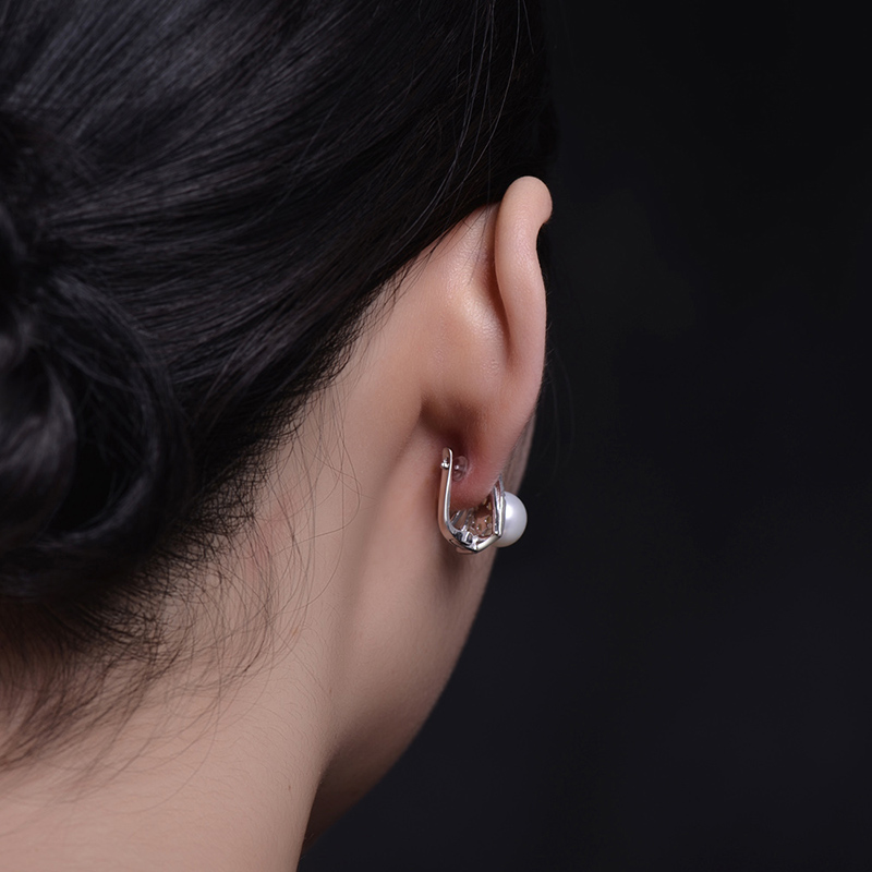 Sinya 925 sterling silver Earrings mutiara Air Tawar alami perhiasan - Perhiasan bagus - Foto 2