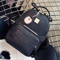 Женская Рюкзак Сумка Студент моды случайные мешок PU сумка Изысканный небольшой кулон Модный дикий леди рюкзак сумка