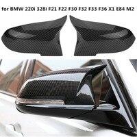 1 Pair Rearview Mirror Covers Cap Carbon Fiber High Quality for BMW Series BMW F20 F22 F23 F30 F31 F32 F33 F36 F87 M2 X1 E84