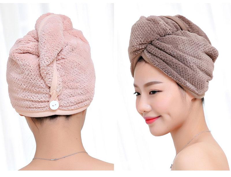 GIANTEX Japanese Polyester Cotton Women Bathroom Super Absorbent Quick-drying Bath Towel Hair Dry Cap Salon Towel 23x60cm U1031 13