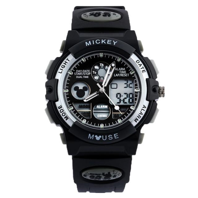Disney brand children Digital Wrist Watches Mickey Boy Swimming Watch 50m Waterproof sports watch calendar Alarm Luminous