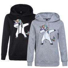 157d2952ecb344 Autumn Spring Women Sweatshirts Little Pony Black Hoodie Unicorn Printed  Pullovers