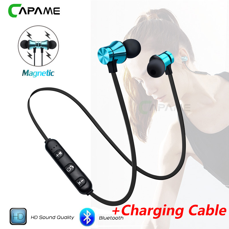 YAMIZOO Wireless Headphone Magnetic Headset Neckband Bluetooth Earphones