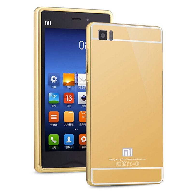 Xinchentech para Xiaomi Mi3 Funda de lujo espejo de metal + acrílico - Accesorios y repuestos para celulares - foto 6