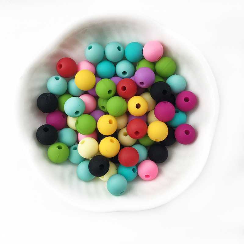 9mm 1000PCS lot Silicone Round Beads Baby Teether Pacifier Chain Pendent Bracelet DIY Food Grade Infant