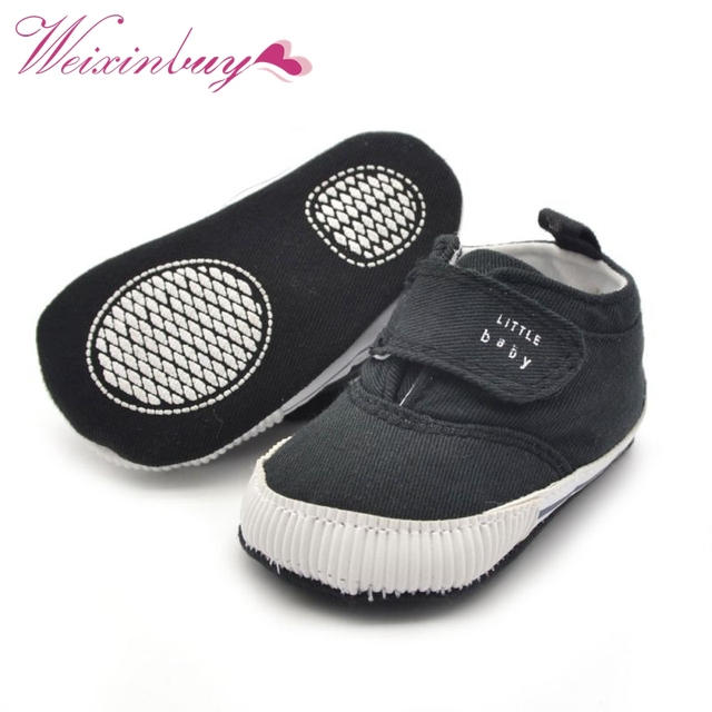 Newborn Baby Boys Cotton Ankle Canvas High Crib Shoes Casual Sneaker Toddler First Walkers 2