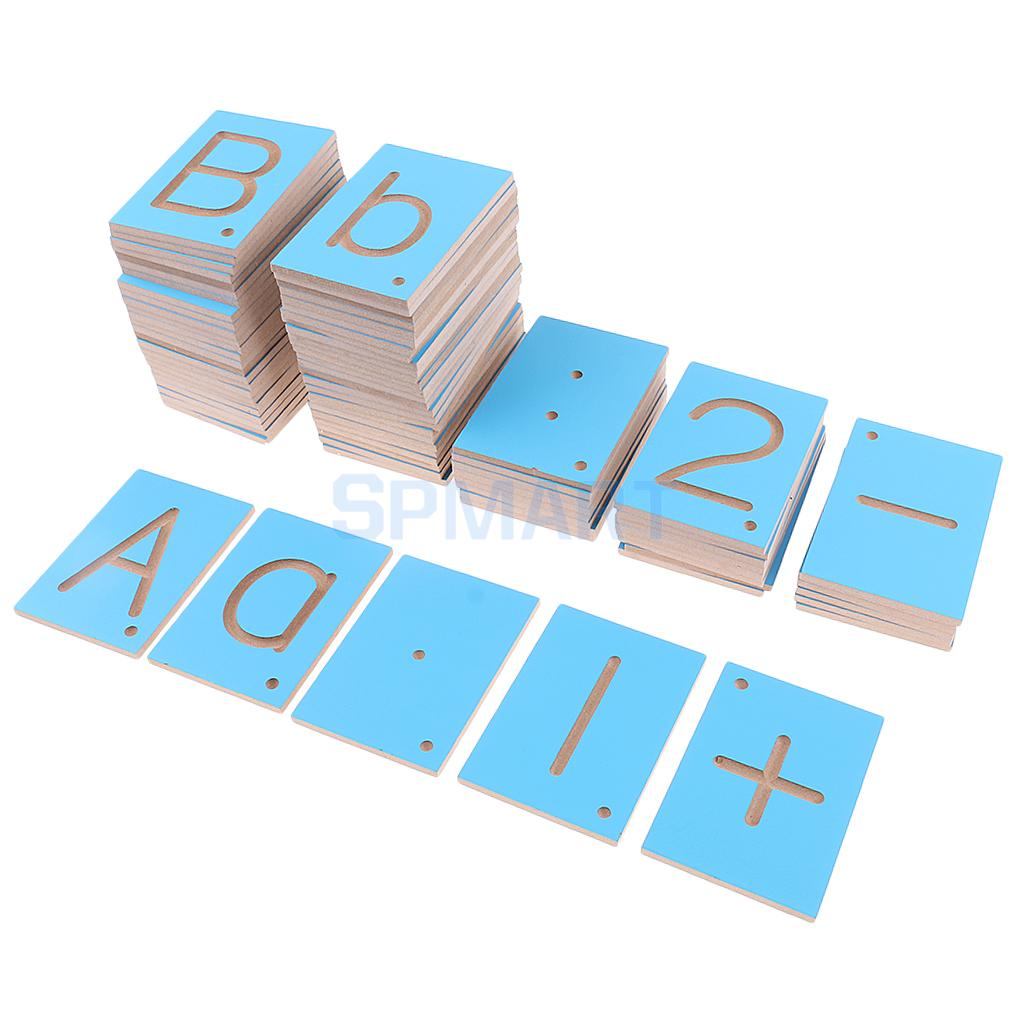 Montessori Teaching Aid Lower and Capital Case Letters Numbers Math Signs for Kids Educational Toys