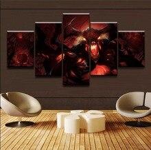 Fashion Wall Art Game Poster Home Decorative 5 Panels DOTA 2 Shadow Fiend Painting HD Printed On Canvas For Bedroom Living Room лонгслив printio dota 2 shadow fiend