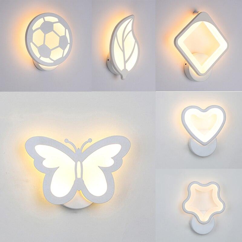 Lampe à lumière papillon de nuit, lumière à la feuille du papillon projet de rail lampe carrée lampes murales pour chambre à coucher décoration de la maison