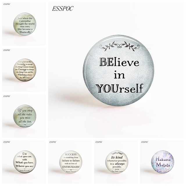 Believe in yourself inspirational quote photo round dome glass believe in yourself inspirational quote photo round dome glass cabochon 25mm diy handmade jewelry flatback findings solutioingenieria Choice Image