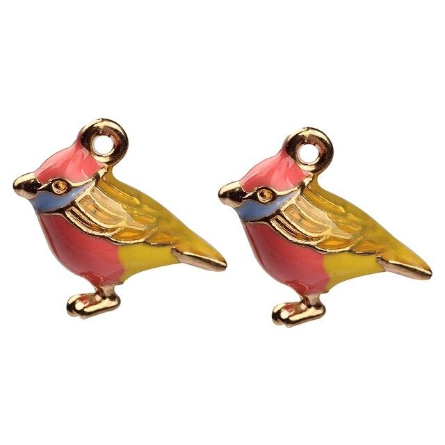 Фото 1 шт 9*13 мм сплав амулеты животные 3d птица милые капли масло цена