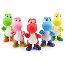 Super Mario Bros yoshi PVC Action figure toys Dolls 5 colors