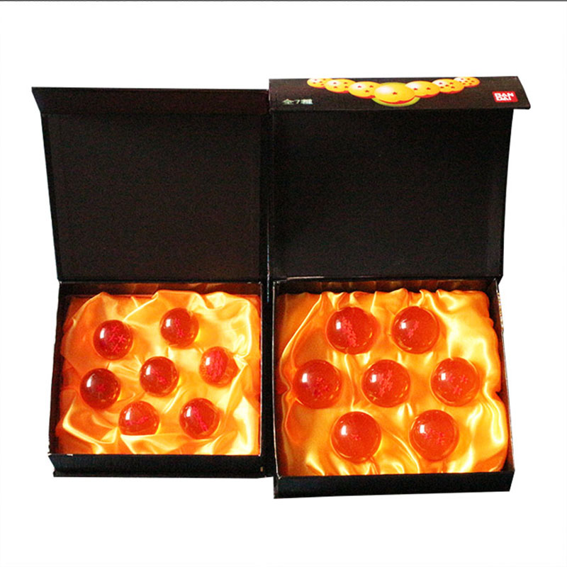 7pcs/set Dragon Ball Z 7 Stars Crystal Dragonballs 2 Types Selectable 3.5cm and 4.5cm in Box Package