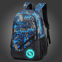 New Pattern Both Package Man Student A Bag Oxford Cloth Woman Leisure Time Backpack Male Fund
