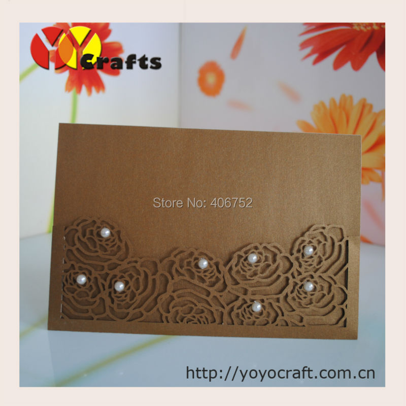 Fancy lace birthday invitation cards with insert and envelope rose printed service for the insert paper of invitation card m4hsunfo