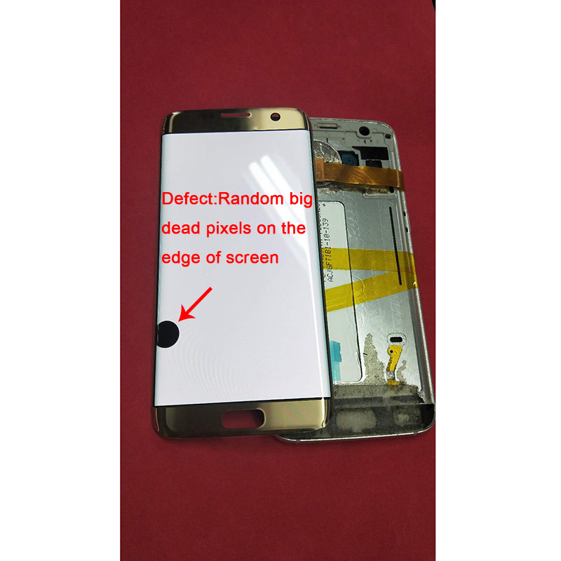 5.5'' AMOLED LCDs Replacement For <font><b>Samsung</b></font> <font><b>Galaxy</b></font> <font><b>S7</b></font> edge LCD G935 G935F LCD <font><b>Display</b></font> Screen Digitizer Assembly with Big Dots image