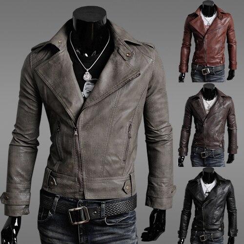 Homens roupas fino masculino jaqueta de couro vestuário masculino