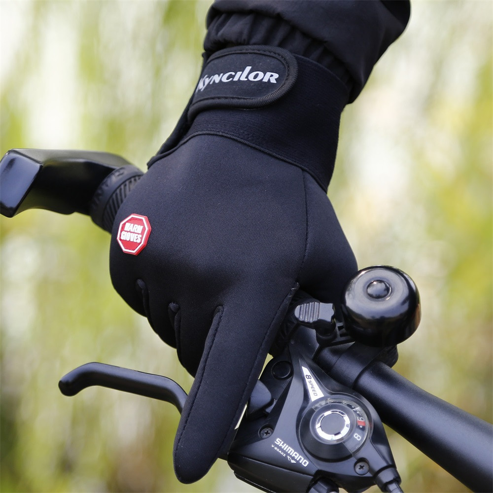 Winter Outdoor Wind keep warm Proof Glove Ski Riding Warm Mountain Climbing Outdoor mitten Comfortable gloves L50/1225(China)