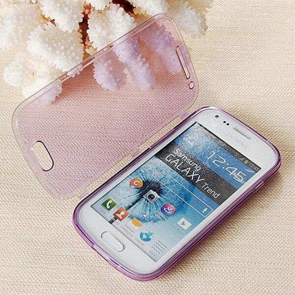 Samsung Galaxy Trend Duos S7562 phone case,transparent tpu cover case S7562,ultra thin flip - Hongkong NO.1 store