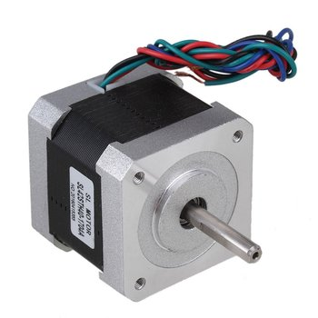 3pcs Silver 42mm Bipolar SL42STH40-1704A Stepping Motor DC12V 1.7A Two-Phase Stepper Motors with 4-lead Cable