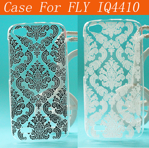 new arrival 6541a 18d52 US $1.9 |Gionee Elife E3 Vintage Flower Pattern Case For Fly IQ4410  Transparent Luxury Hard Back Cover Case For FLY IQ4410 Free Shipping-in ...