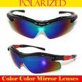 = = Limite de Polarização Espelho Espelho Multi cor Polarização Polaroid pesca Motorista Esporte Corrida UV 400 óculos de sol