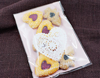 100pcs Lot Romatic Heart Cookie Bags Plastic Candy Biscuit Packaging Bag Wedding Candy Gift Bags Party