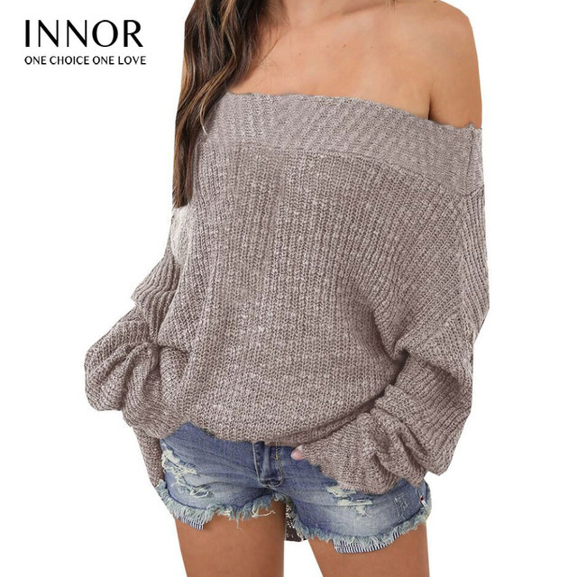 65cb9d0fd wine red Sexy off shoulder split knitted sweater Women brand black  pullovers knitwear Autumn winter white jumper pull femme-in Pullovers from  Women's ...