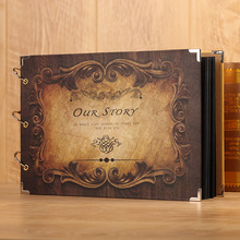 Retro Style 17 Inch  Photo Album Butterfly DIY Handmade for Lover Baby Scrapbooking Craft Vintage Wedding Photo Albums